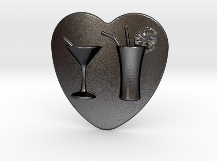 Cocktail Belt Buckle 3d printed