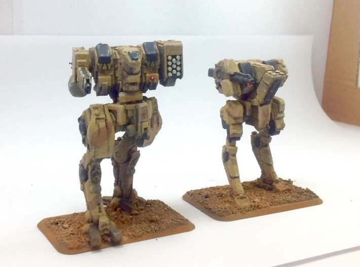 Neugen TypeB Late Production Model 3d printed Neugen battle Walker with Margen scout Walker