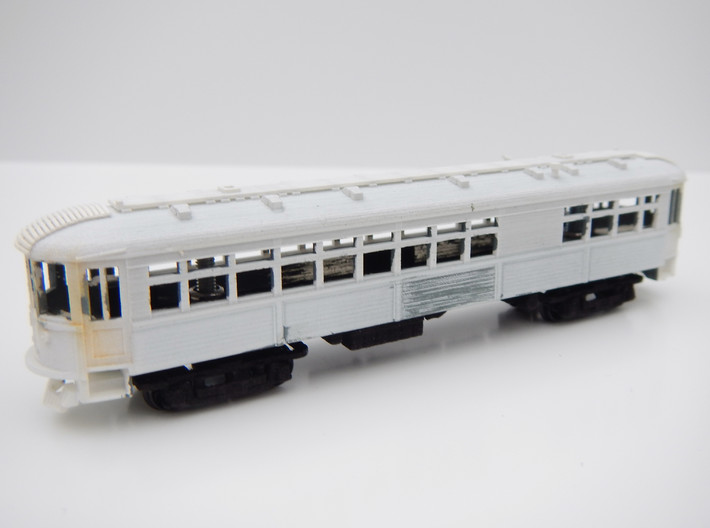 CNSM Interurban Underframe 3d printed Under frame fitted to interurban