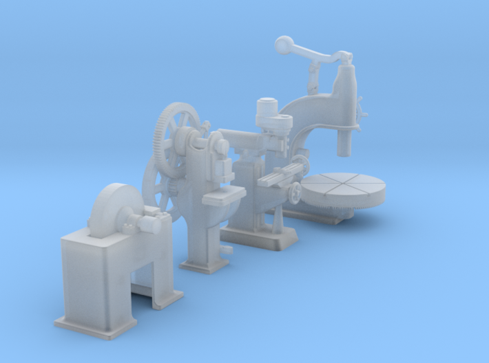 Large Metal Working Machines Collection 2 OO Scale 3d printed