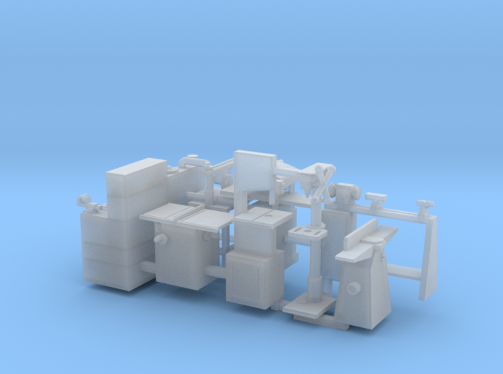 Woodworking Tools and Workbench OO Scale 3d printed