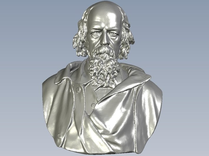 1/9 scale Alfred Lord Tennyson bust 3d printed