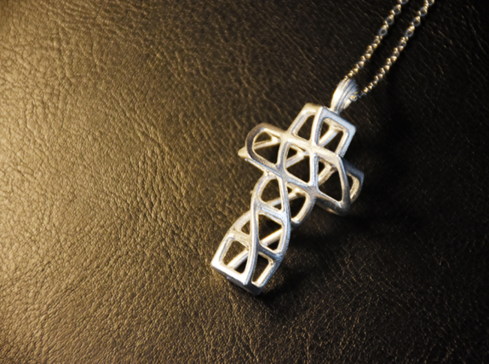 TwisT* - Pendant 3d printed in Polished Silver