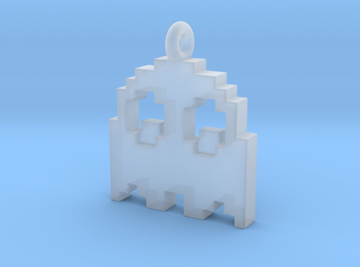 Pac-Man Pendant - Ghost (rounded corners) 3d printed
