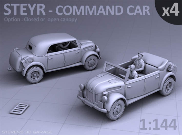 STEYR COMMAND CAR - (4 pack) 3d printed