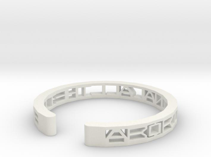 Aboriginal All The Time Bracelet 3d printed