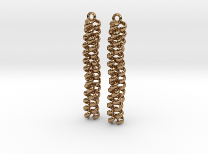 Trimeric coiled coil earrings 3d printed