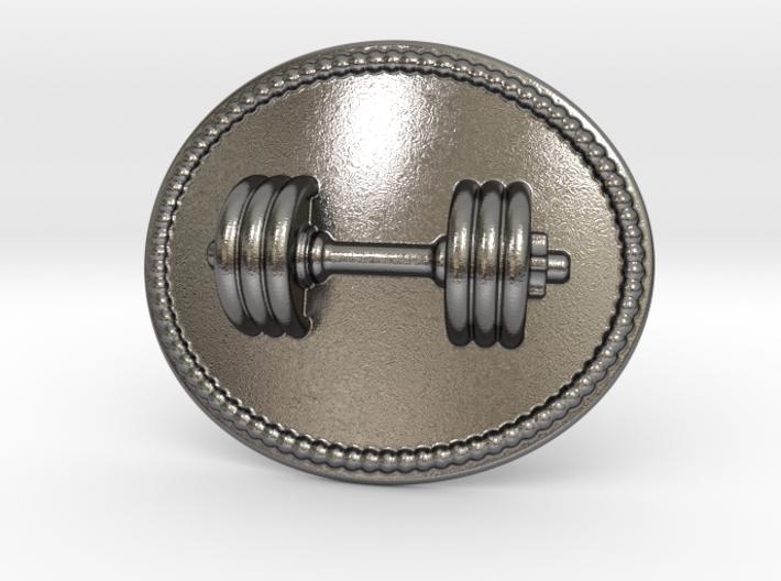 Dumbbell Belt Buckle 3d printed