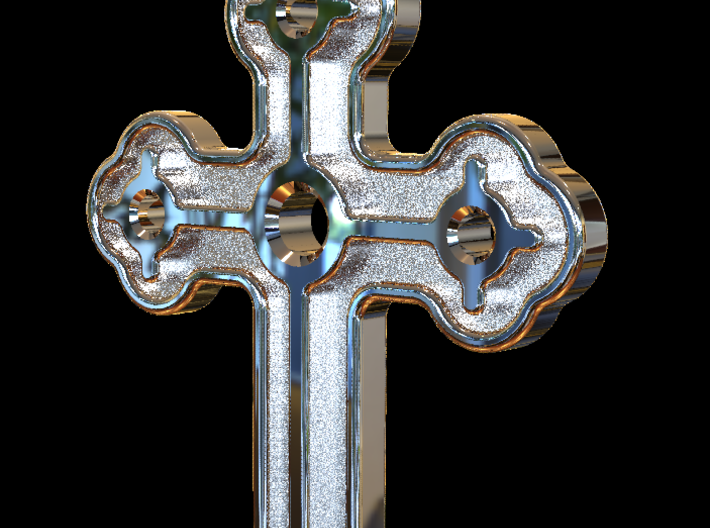 Greek Cross 2 3d printed Plain Cross Rendering in silver