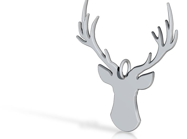 STAG HEAD Keychain/Necklace Pendant 3d printed