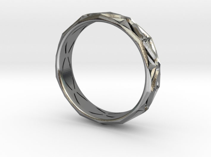 Cut Facets Ring Sz. 8.5 3d printed