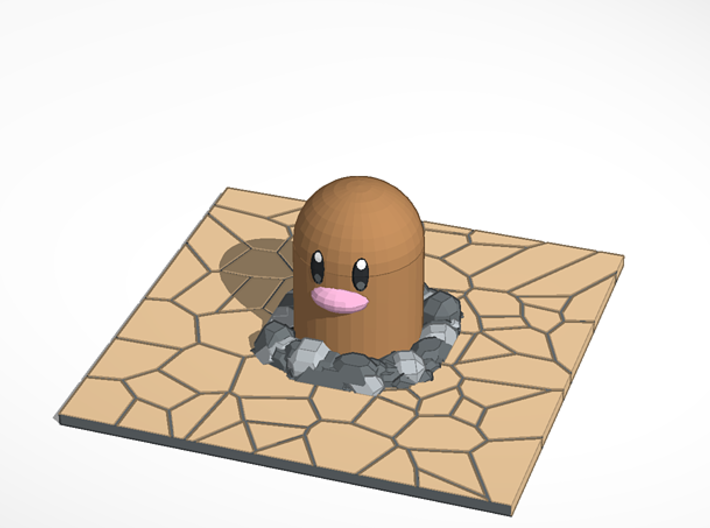 Diglett 3d printed This is how it should be painted.