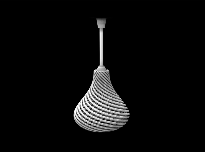 Lampshade Pear Twisted 3d printed Pear lampshade