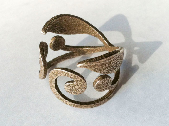 Hidden Life Ring - US Size 7 3d printed