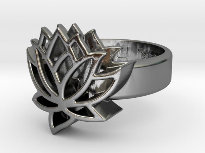 US6.5 Ring XXV: Tritium (Silver) 3d printed