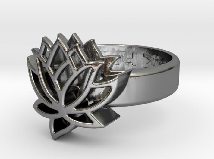 US9 Ring XXV: Tritium (Silver) 3d printed