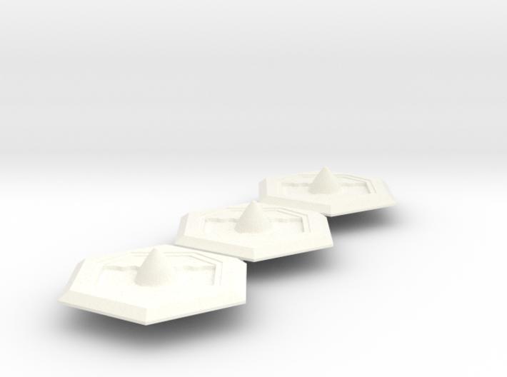 Missile Silo Hex(BT) x3 Batch 3d printed