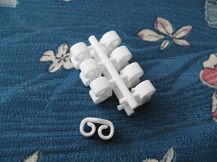 Butterfly Retainers x8, for Ear Studs (Plastic) 3d printed