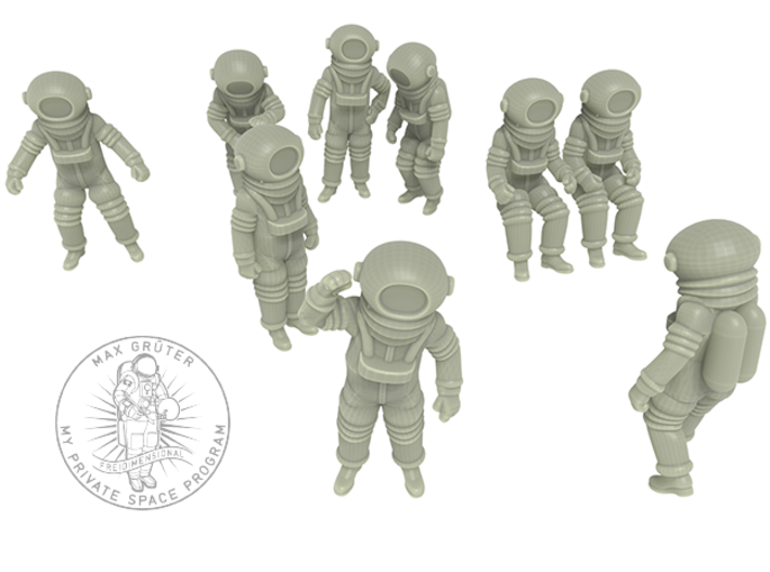Destination Moon / Classic Astronauts Set / 1:48 3d printed