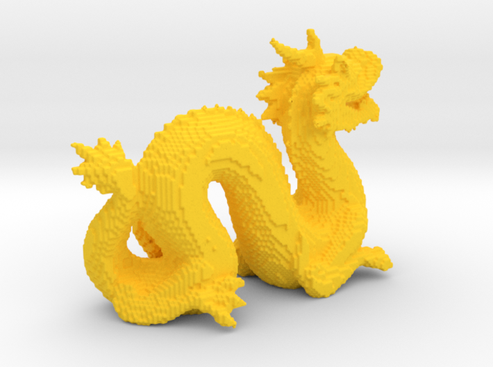 Cyber Dragon Stanford - Hollow 3d printed