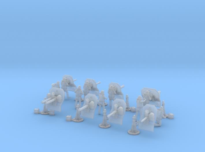 1/144 US Navy  AA M Gun Pedestal Mount 3d printed