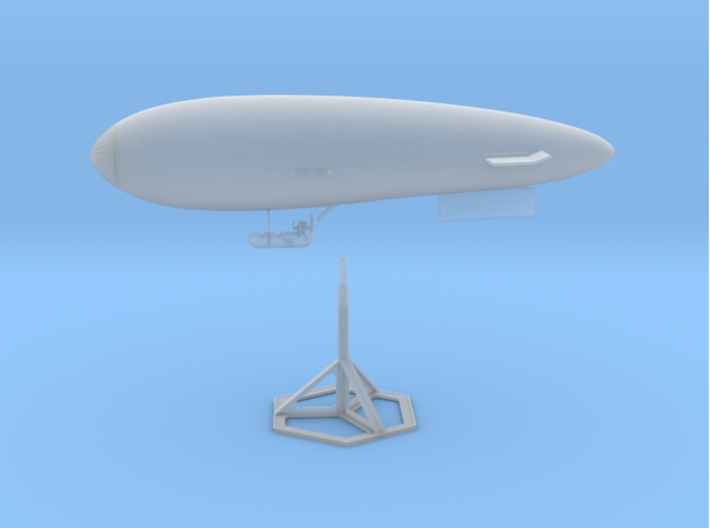 S.S. Zero 1/350 Scale with Display Stand 3d printed The assembled model.