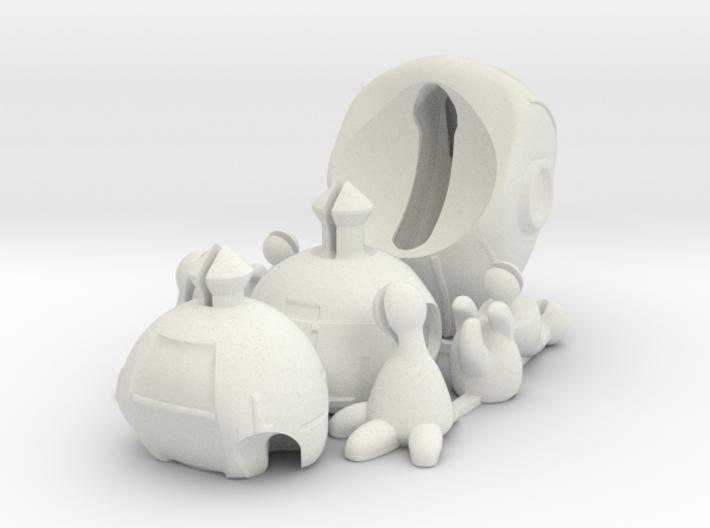 Kikonito - Tiny articulated bot 3d printed