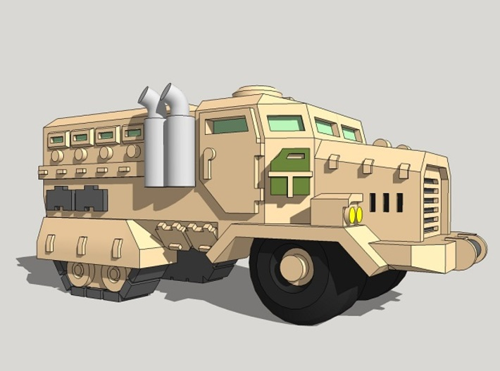 6mm Muskox Fire-Support MRAP (Half-Tracked) (6pcs) 3d printed