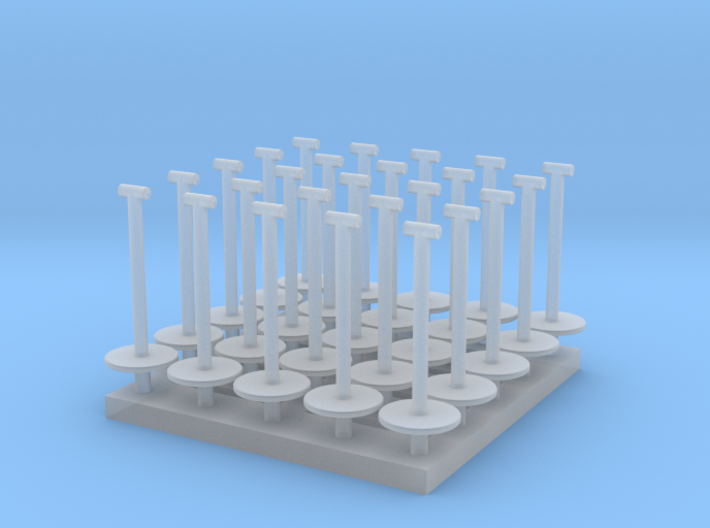 MOF Stanchions (25) HO 72:1 Scale 3d printed