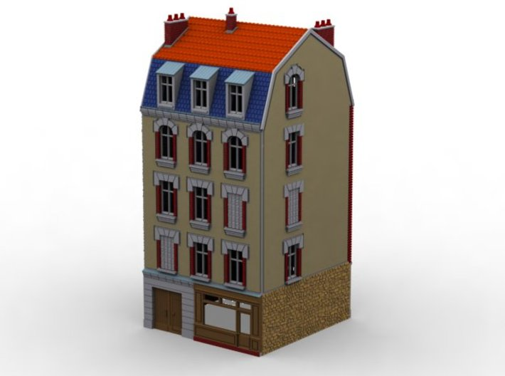 NVIM43 - City buildings 3d printed