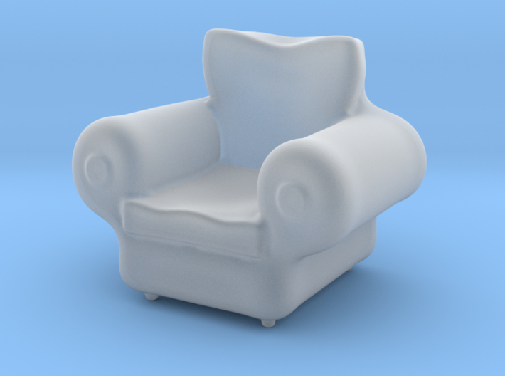 Armchair - Dollhouse 1/48 and 1/12 Scale 3d printed