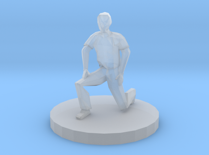 Man On One Knee 3d printed