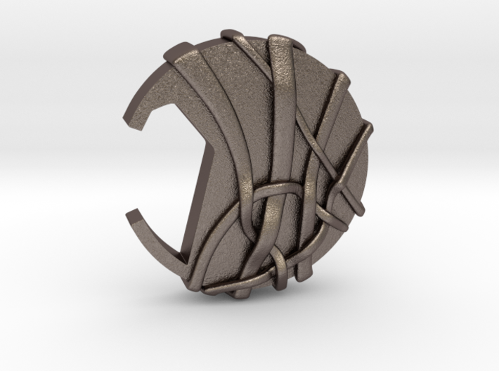 Coin Styled Bottle Opener(solid Woven Pattern) 3d printed