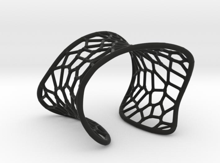 Voronoi Cuff Bracelet 3d printed