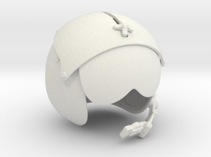 1/4 helicopter pilot helmet single 3d printed