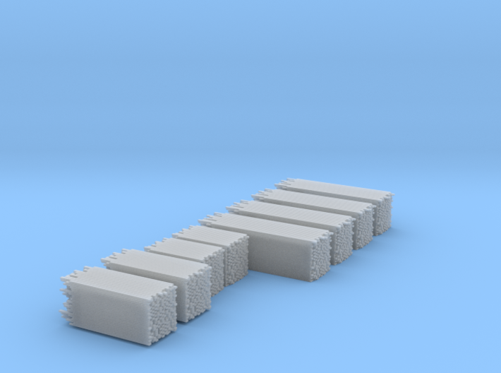 Unfinished Lumber Load, N Scale, Flat Car Load 3d printed