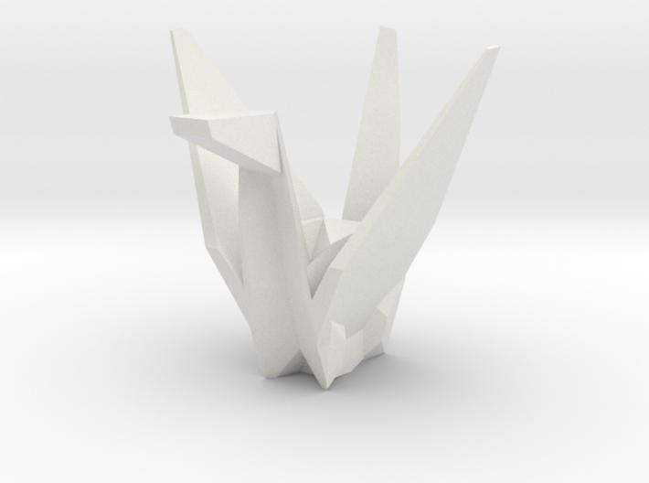 3D Origami Crane 3d printed