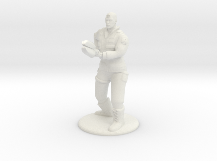 Soldier With Staff - 20 mm 3d printed