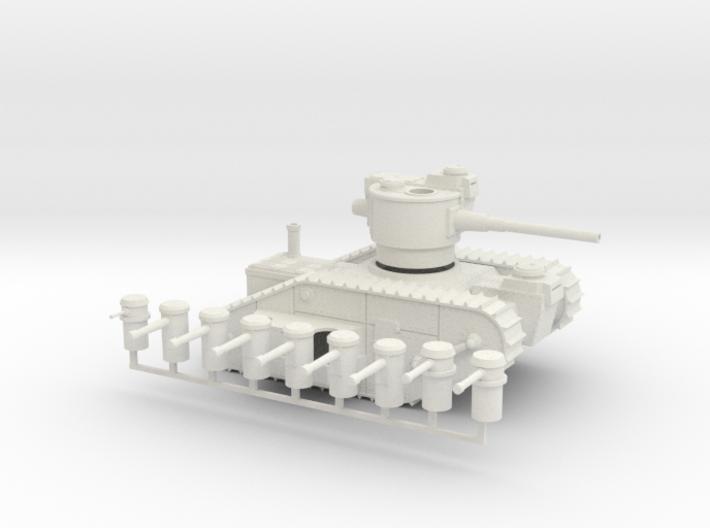 15mm AQMF MERRIMACK HEAVY TANK 3d printed