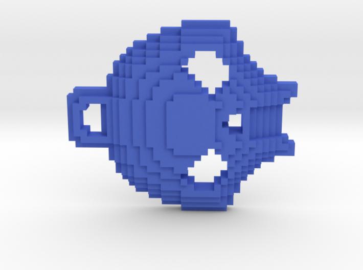 Pixelated Skull Keychain 3d printed