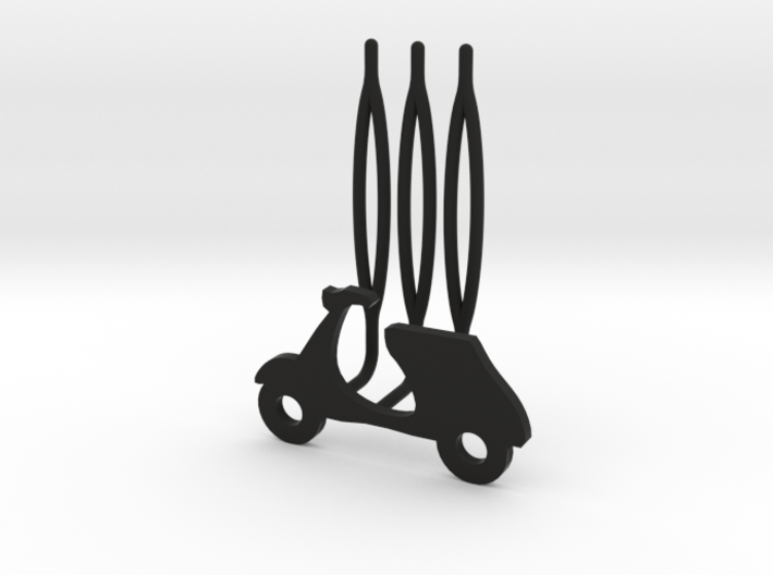 Scooter decorative hair comb - small size 3d printed
