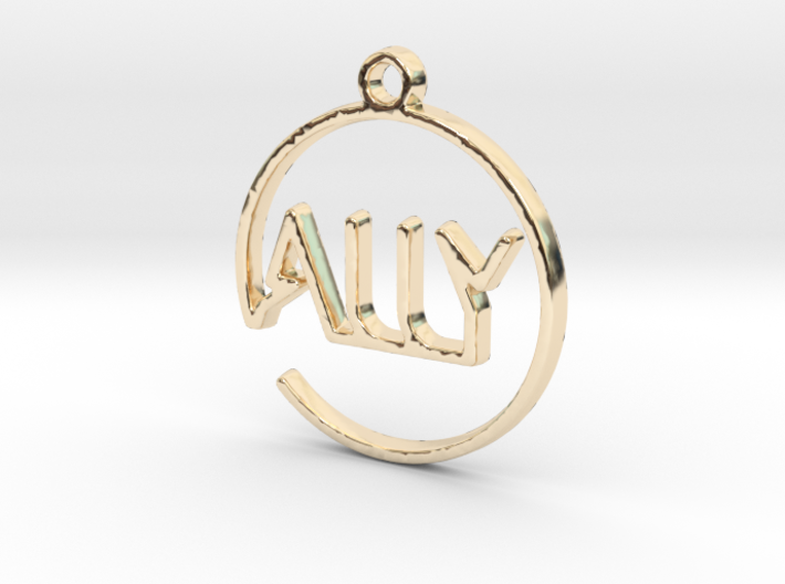 ALLY First Name Pendant 3d printed