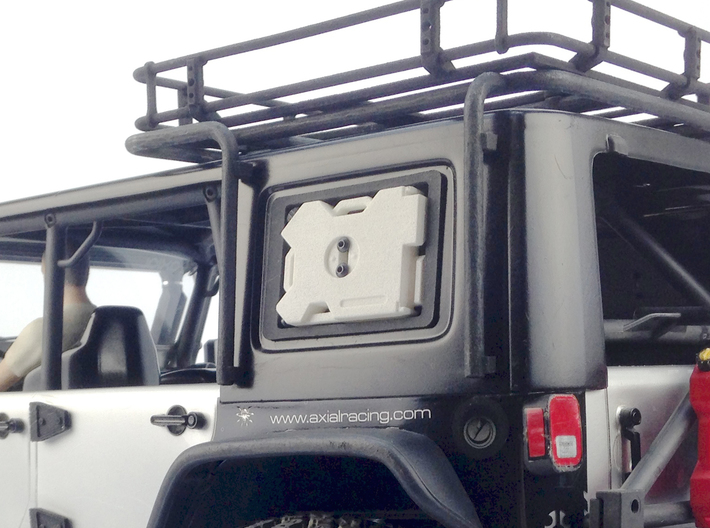 AJ10010 RotopaX window mount (1 only) 3d printed Shown fitted to the Axial JK rear window. RotopaX sold separately.