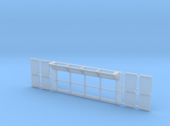 Set-1 Sci-Fi Utility Wall w/ Grates-1/72 3d printed