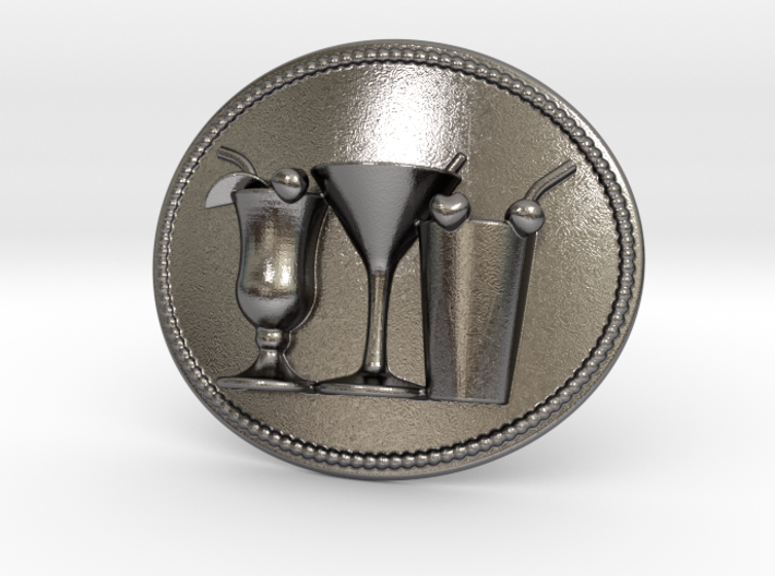 Cocktail Party Belt Buckle 3d printed