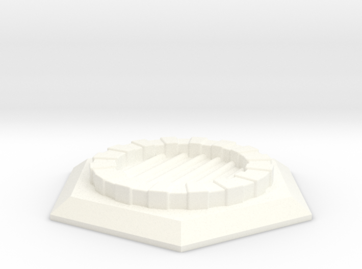 Fantasy Sewer Grate Hex Plate 3d printed