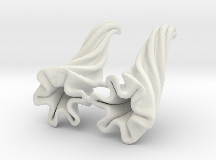 Small Horns: Deep Groove Spiral 3d printed