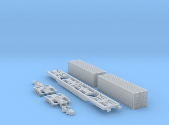 Containertragwagen Sgnss mit 2x 30ft Wingliner 3d printed