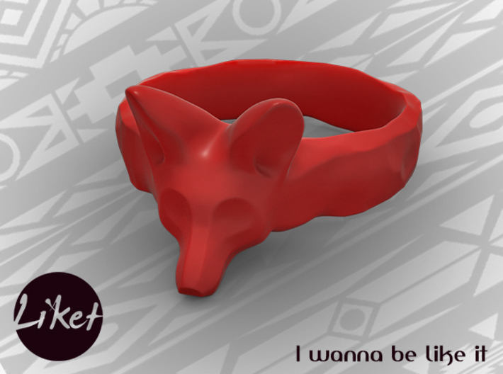 Wild Fox Ring size 5 3d printed