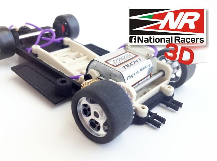 3D chassis - SRC Ferrari 312 PB V1.0 (SW) 3d printed Rear -Exhaust details